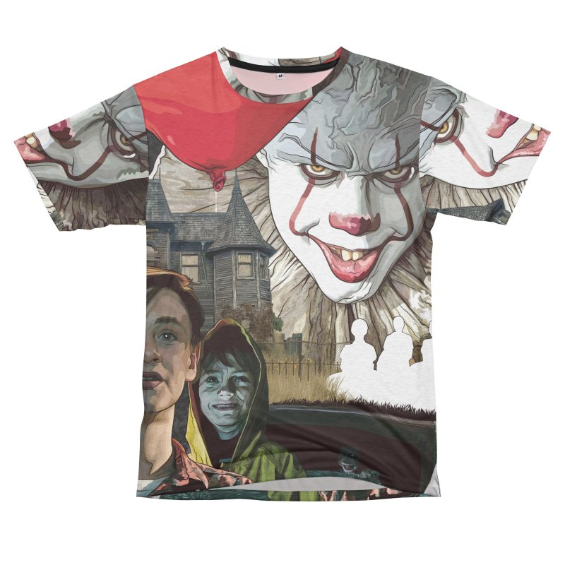 A Tribute to Pennywise... Women's Unisex French Terry T-Shirt Cut & Sew by pentoolarts's Artist Shop