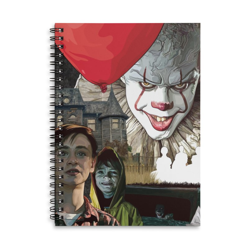 A Tribute to Pennywise... Accessories Lined Spiral Notebook by pentoolarts's Artist Shop
