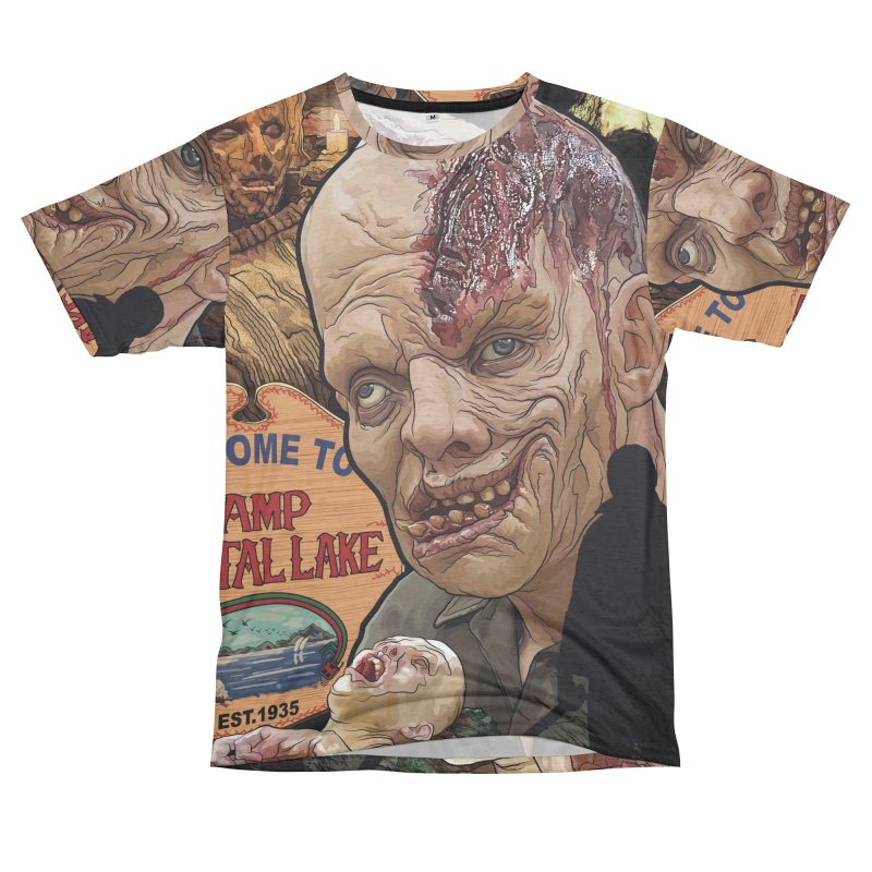 A Tribute to The Killer In the Woods... Men's French Terry T-Shirt Cut & Sew by pentoolarts's Artist Shop