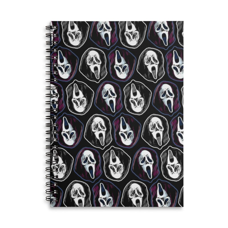 The Ghost with the Most... Accessories Lined Spiral Notebook by pentoolarts's Artist Shop
