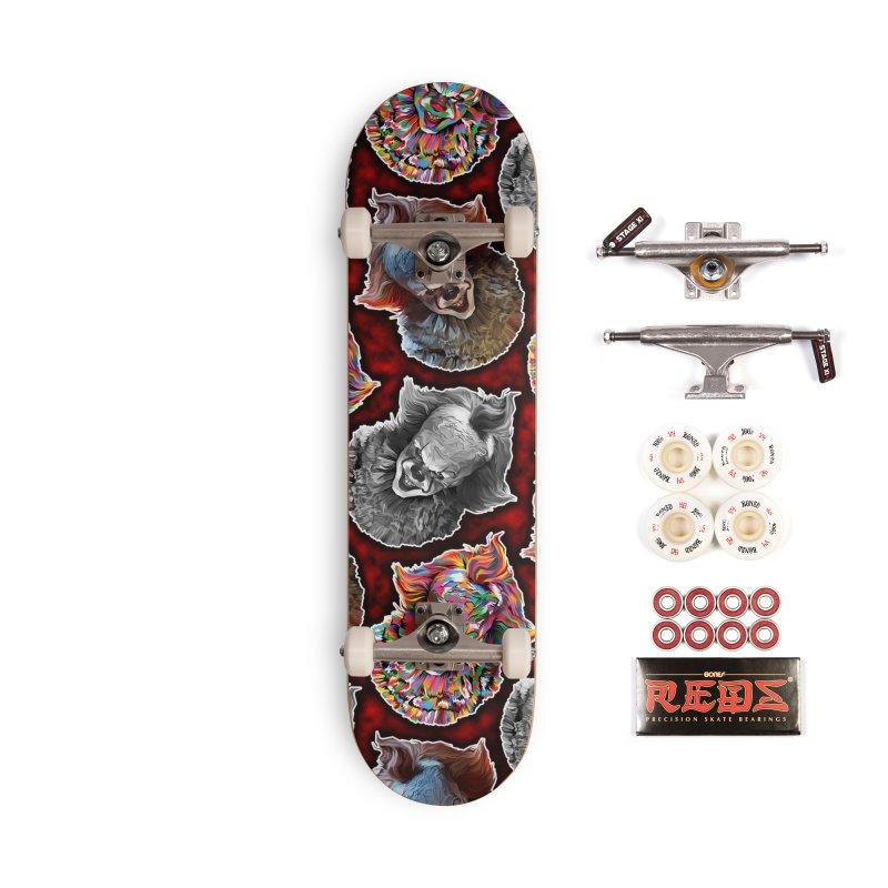 A Wonderful World of Clowns.... Accessories Complete - Pro Skateboard by pentoolarts's Artist Shop