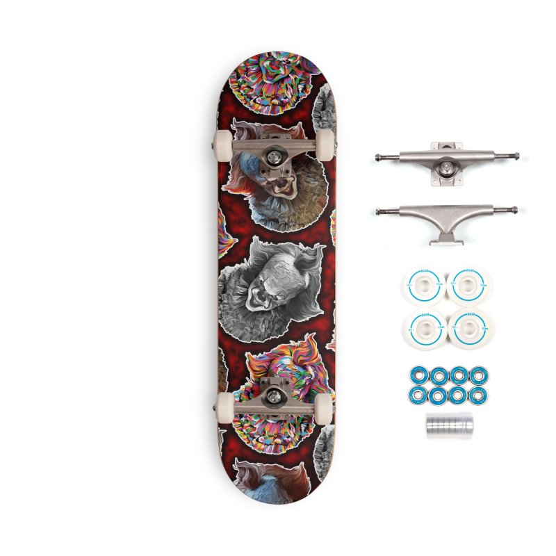 A Wonderful World of Clowns.... Accessories Complete - Basic Skateboard by pentoolarts's Artist Shop