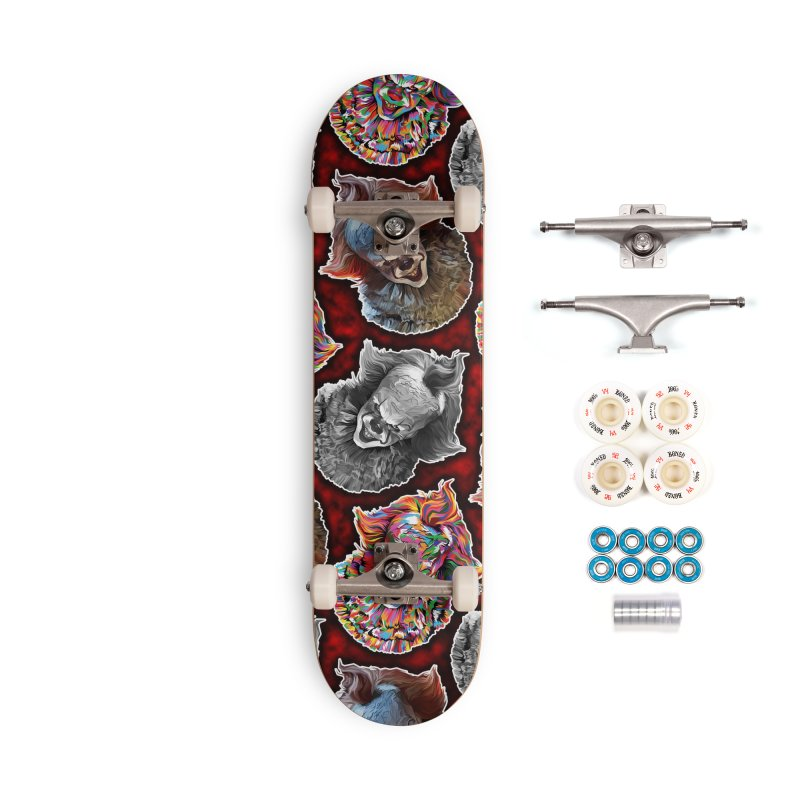 A Wonderful World of Clowns.... Accessories Complete - Premium Skateboard by pentoolarts's Artist Shop