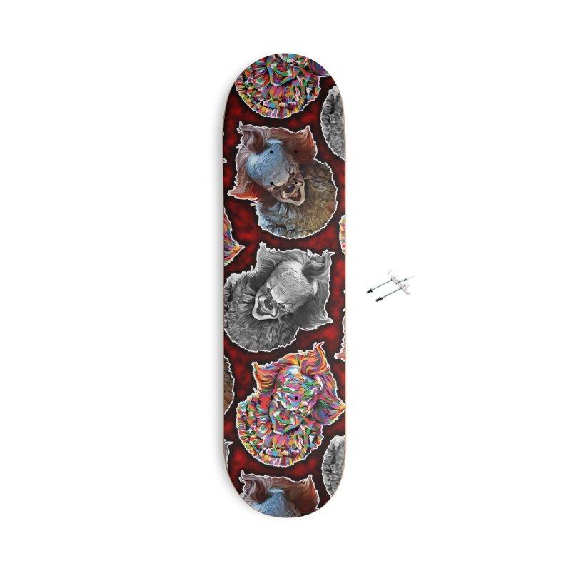 A Wonderful World of Clowns.... Accessories Skateboard by pentoolarts's Artist Shop