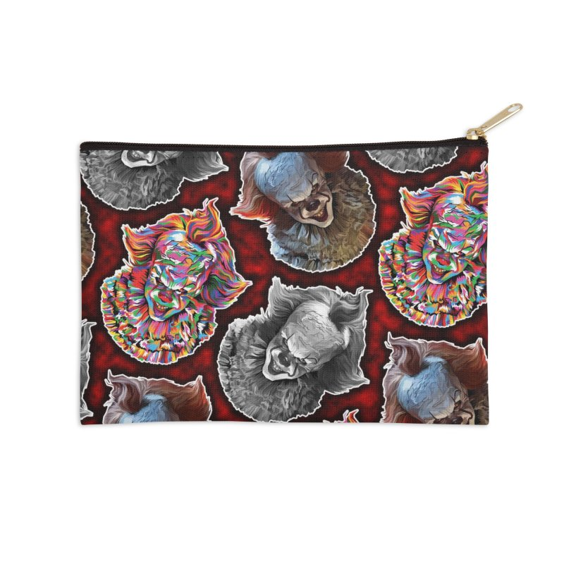 A Wonderful World of Clowns.... Accessories Zip Pouch by pentoolarts's Artist Shop