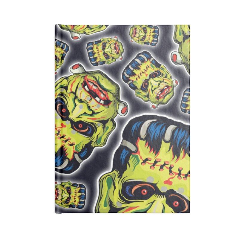 Vintage Halloween! Accessories Lined Journal Notebook by pentoolarts's Artist Shop