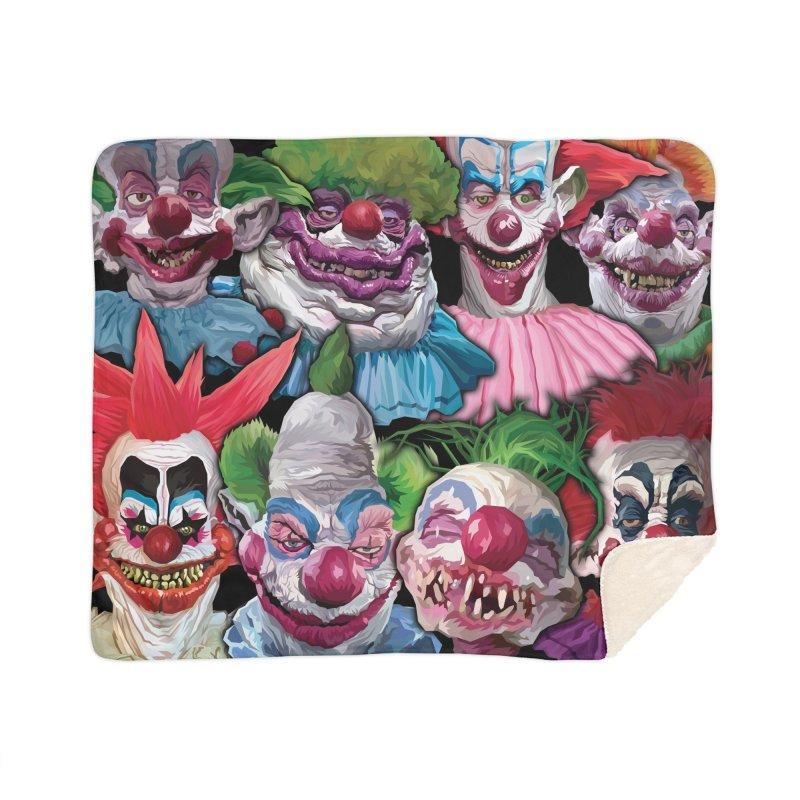 Killer Klowns Rule!!!! Home Blanket by pentoolarts's Artist Shop
