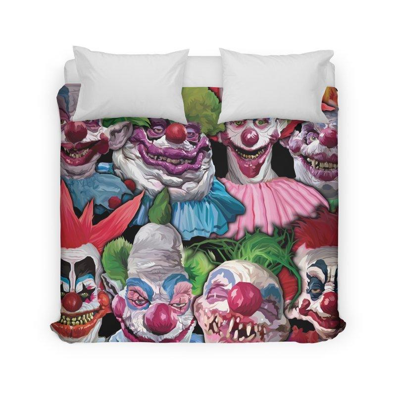 Killer Klowns Rule!!!! Home Duvet by pentoolarts's Artist Shop