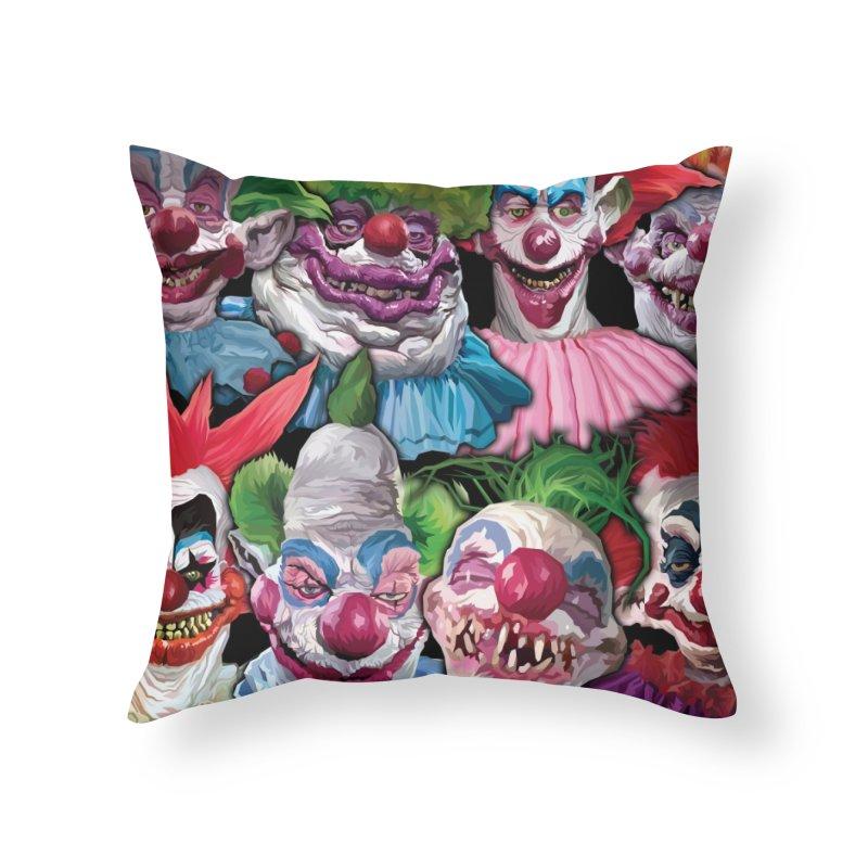 Killer Klowns Rule!!!! Home Throw Pillow by pentoolarts's Artist Shop