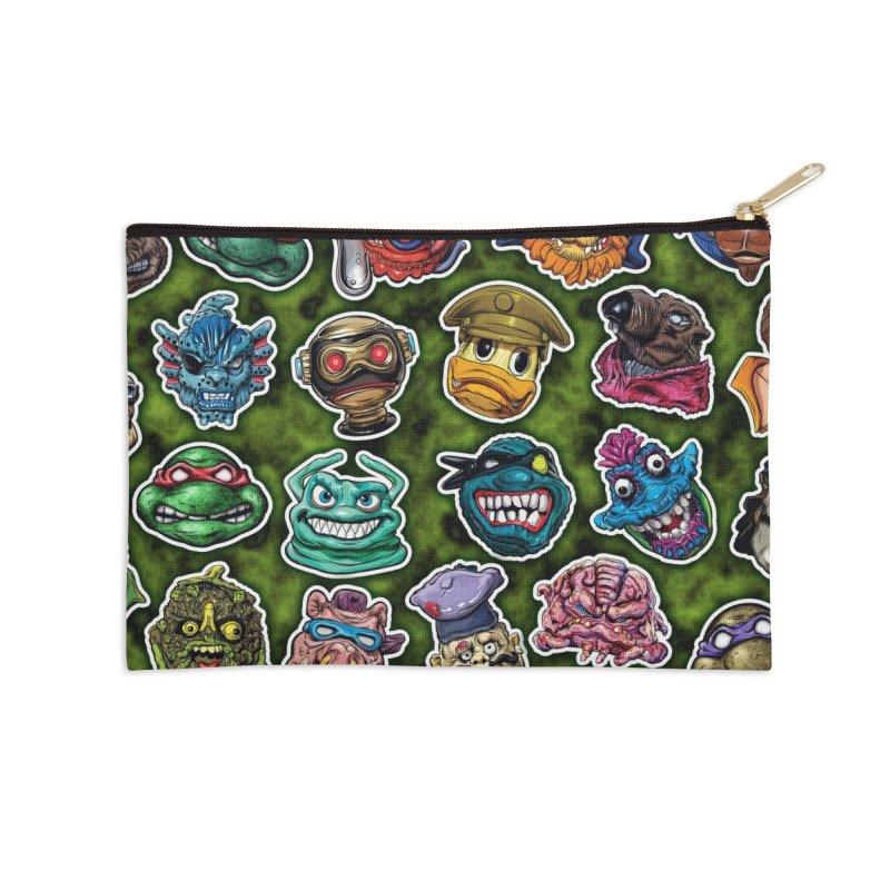 Turtles Time Accessories Zip Pouch by pentoolarts's Artist Shop