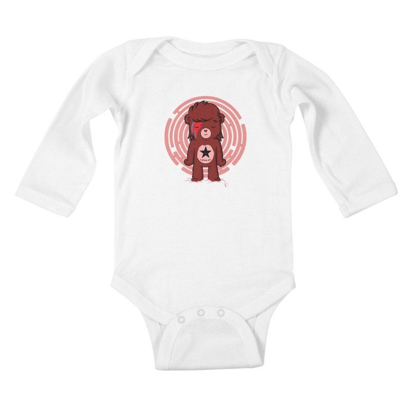 Caring Bowie Kids Baby Longsleeve Bodysuit by pepemaracas's Artist Shop