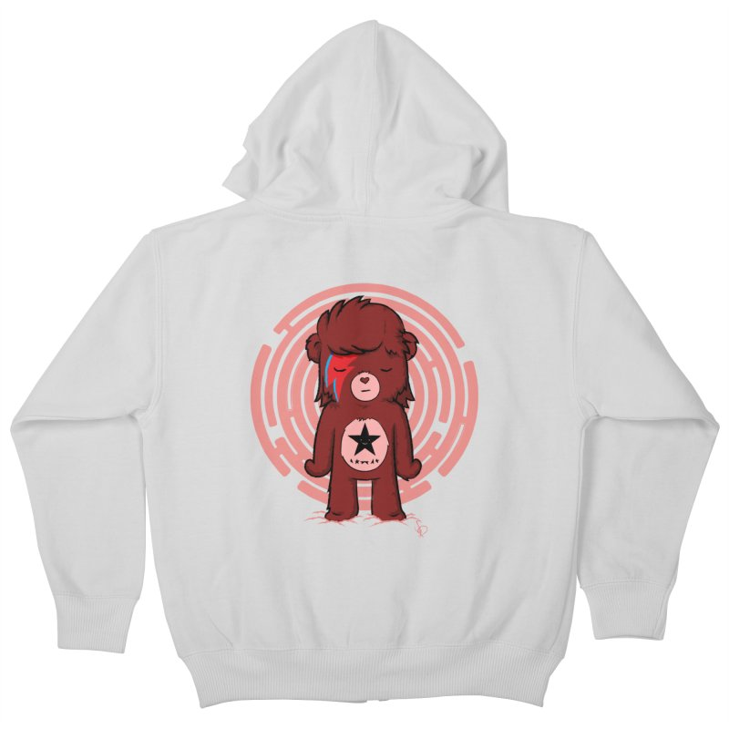 Caring Bowie Kids Zip-Up Hoody by pepemaracas's Artist Shop