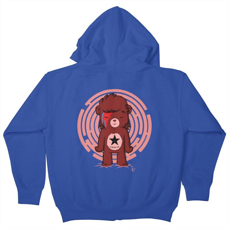Caring Bowie Kids Zip-Up Hoody by pepemaracas's Artist Shop