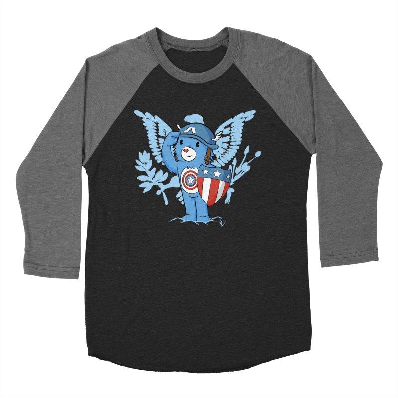 Captain Americare Women's Baseball Triblend T-Shirt by pepemaracas's Artist Shop