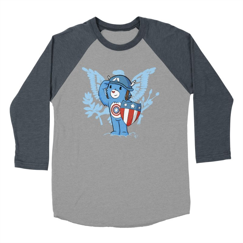 Captain Americare Men's Baseball Triblend T-Shirt by pepemaracas's Artist Shop