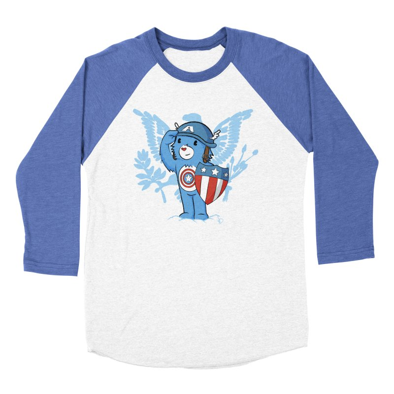 Captain Americare Men's Baseball Triblend T-Shirt by pepemaracas's Artist Shop