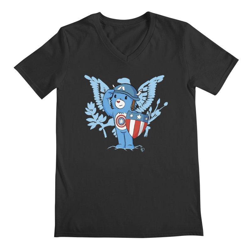 Captain Americare Men's V-Neck by pepemaracas's Artist Shop