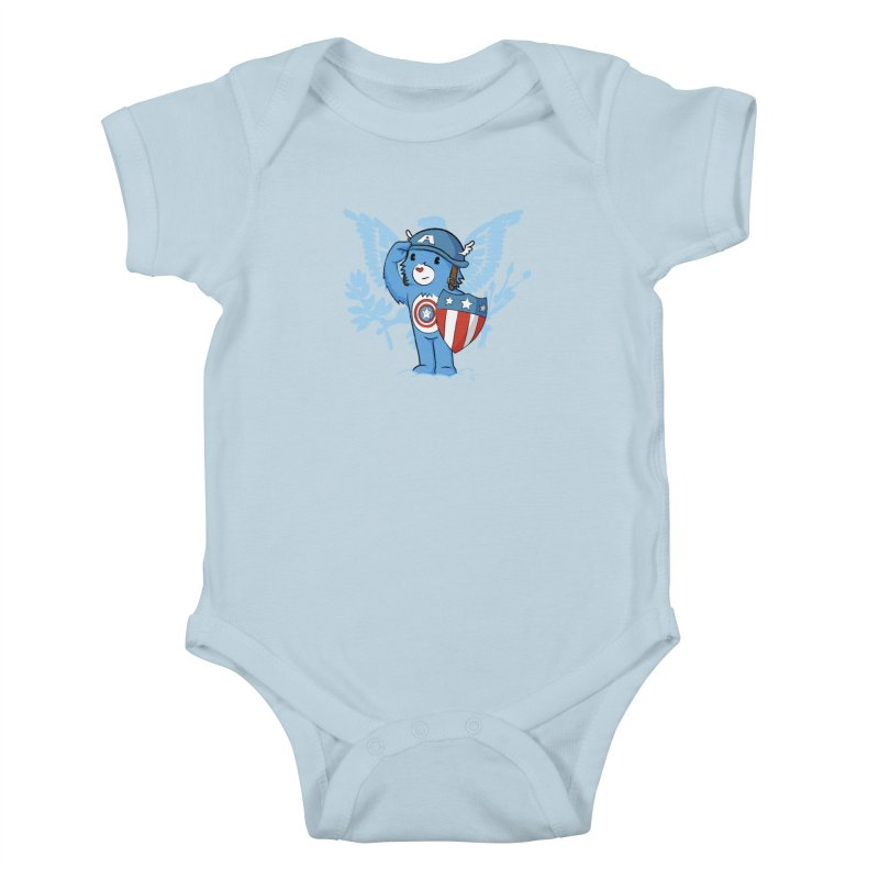 Captain Americare Kids Baby Bodysuit by pepemaracas's Artist Shop