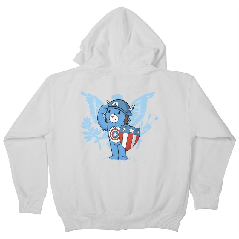 Captain Americare Kids Zip-Up Hoody by pepemaracas's Artist Shop