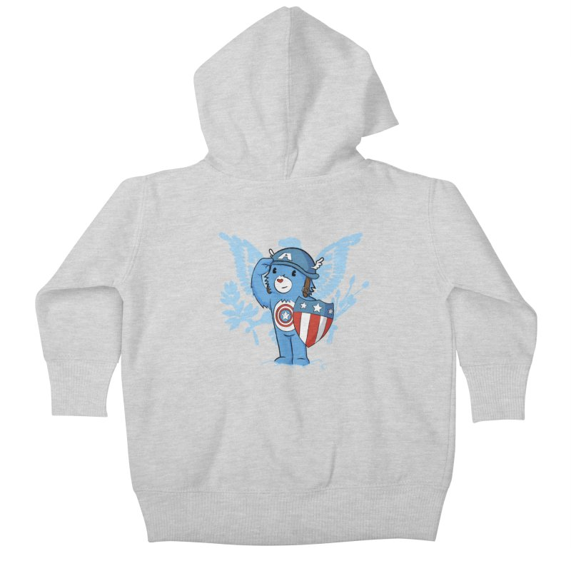 Captain Americare Kids Baby Zip-Up Hoody by pepemaracas's Artist Shop