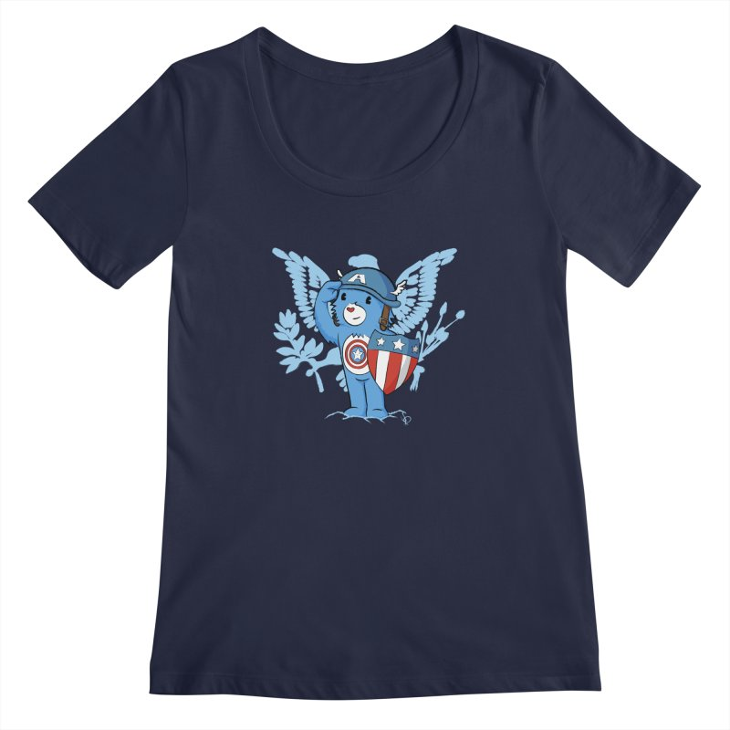 Captain Americare Women's Scoopneck by pepemaracas's Artist Shop
