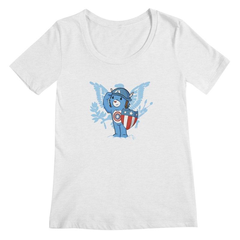 Captain Americare Women's Scoopneck by pepemaracas's Artist Shop