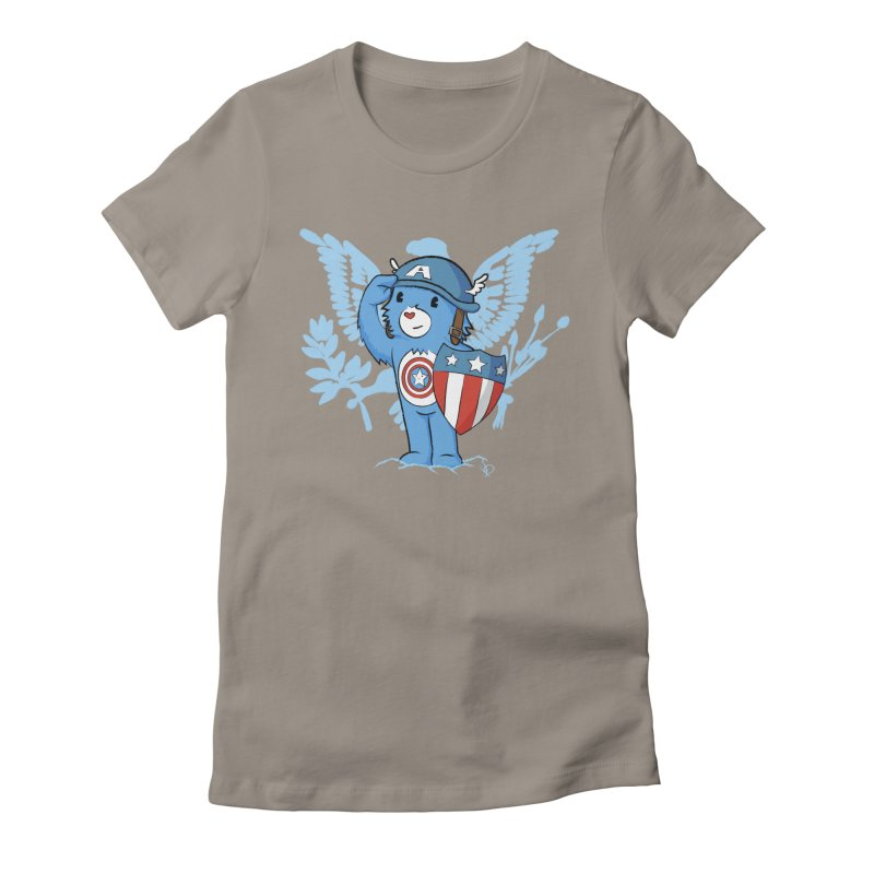 Captain Americare Women's Fitted T-Shirt by pepemaracas's Artist Shop