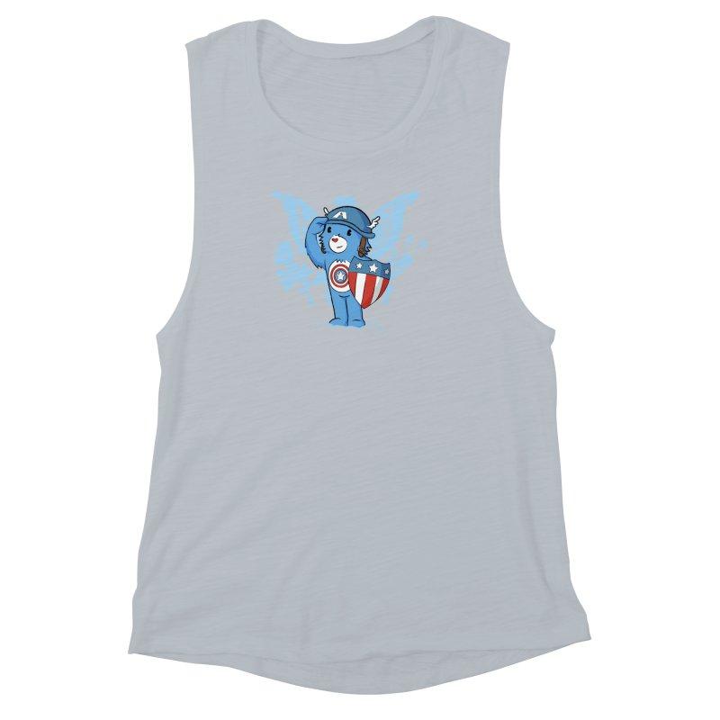 Captain Americare Women's Muscle Tank by pepemaracas's Artist Shop