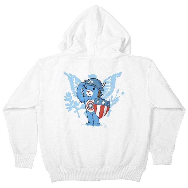 Captain Americare Kids Zip-Up Hoody by pepemaracas's Artist Shop