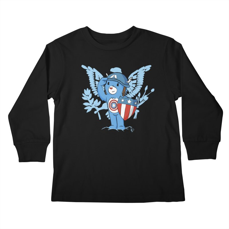 Captain Americare Kids Longsleeve T-Shirt by pepemaracas's Artist Shop
