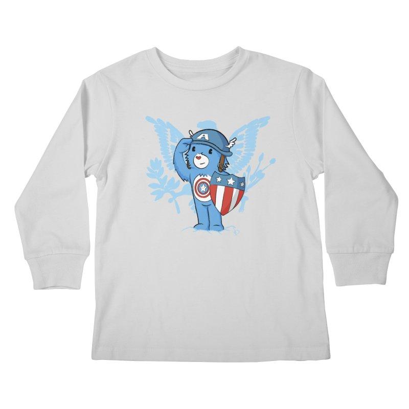 Captain Americare Kids Longsleeve T-Shirt by pepemaracas's Artist Shop