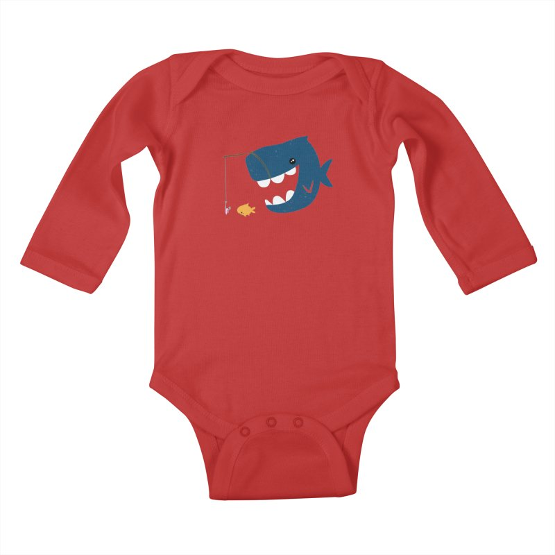 Mouth That Feeds Kids Baby Longsleeve Bodysuit by pepemaracas's Artist Shop