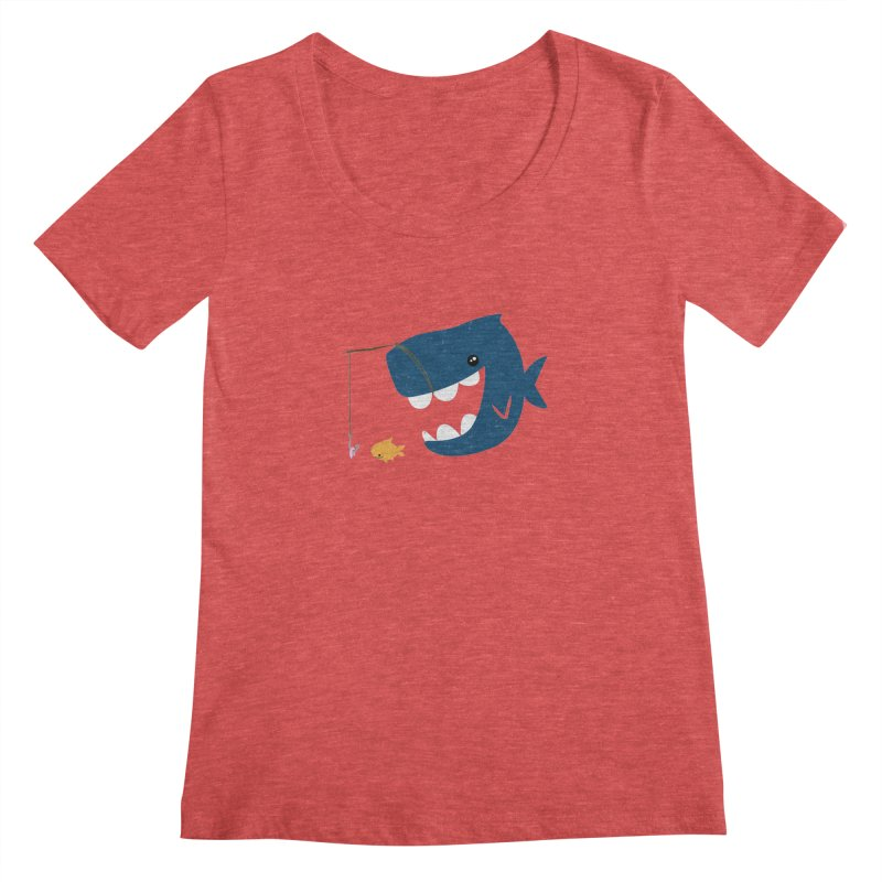 Mouth That Feeds Women's Scoopneck by pepemaracas's Artist Shop