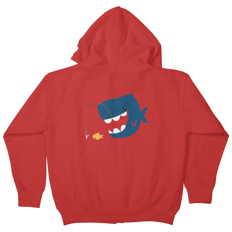 Mouth That Feeds Kids Zip-Up Hoody by pepemaracas's Artist Shop