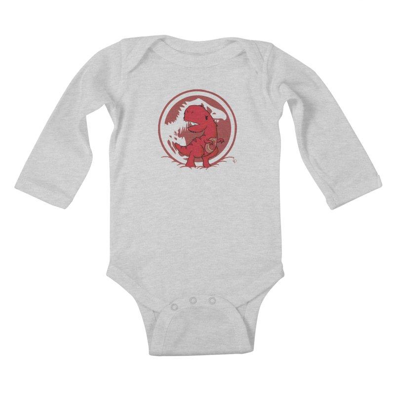 C-Rex Kids Baby Longsleeve Bodysuit by pepemaracas's Artist Shop