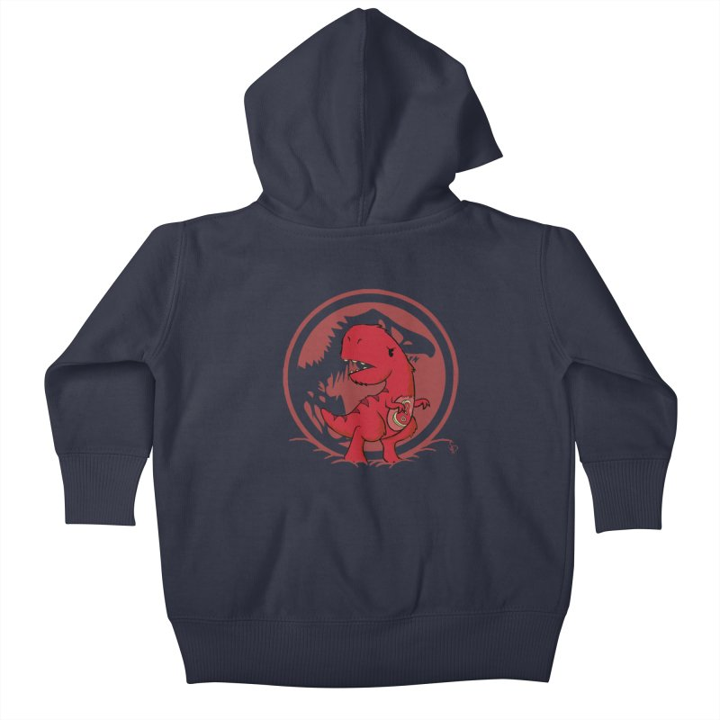 C-Rex Kids Baby Zip-Up Hoody by pepemaracas's Artist Shop