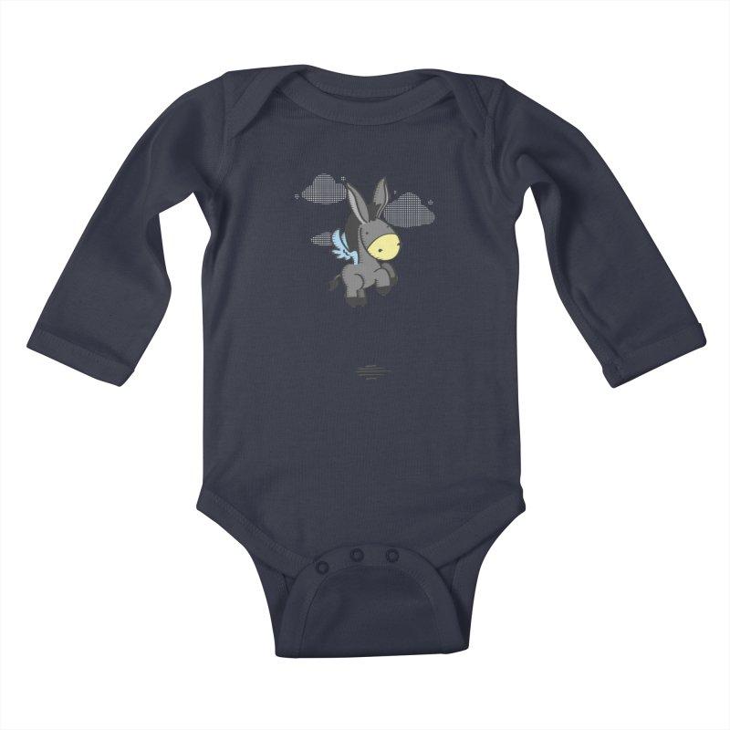 Flying Burrito Kids Baby Longsleeve Bodysuit by pepemaracas's Artist Shop