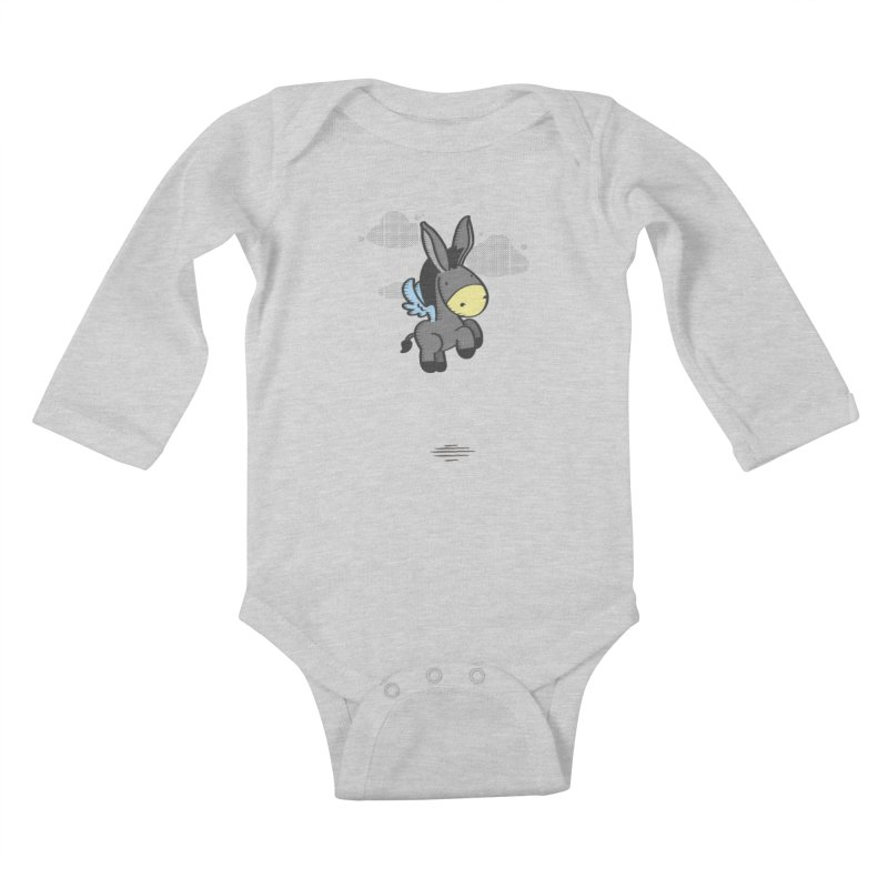 Flying Burrito Kids Baby Longsleeve Bodysuit by pepemaracas's Artist Shop