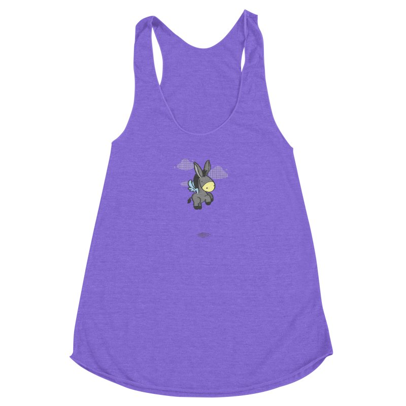 Flying Burrito Women's Racerback Triblend Tank by pepemaracas's Artist Shop