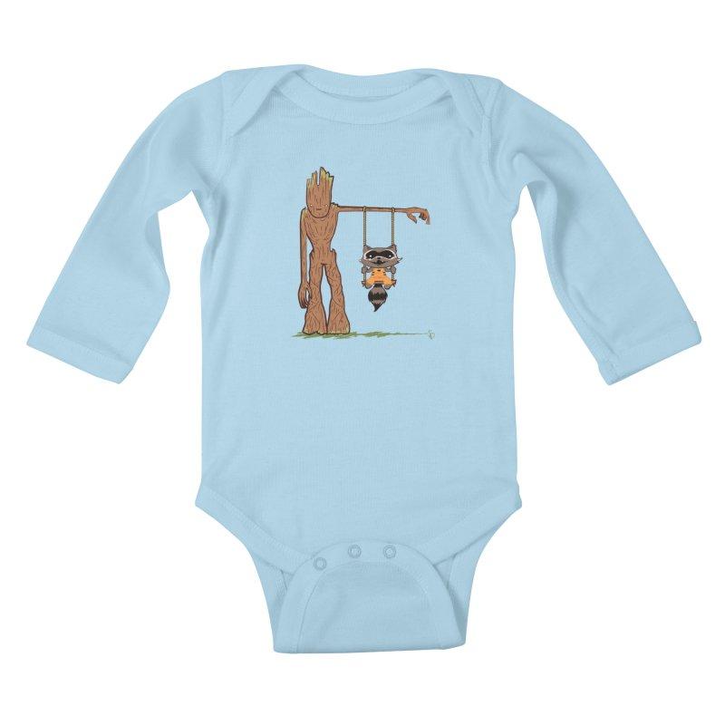 Come Swing With Me Kids Baby Longsleeve Bodysuit by pepemaracas's Artist Shop