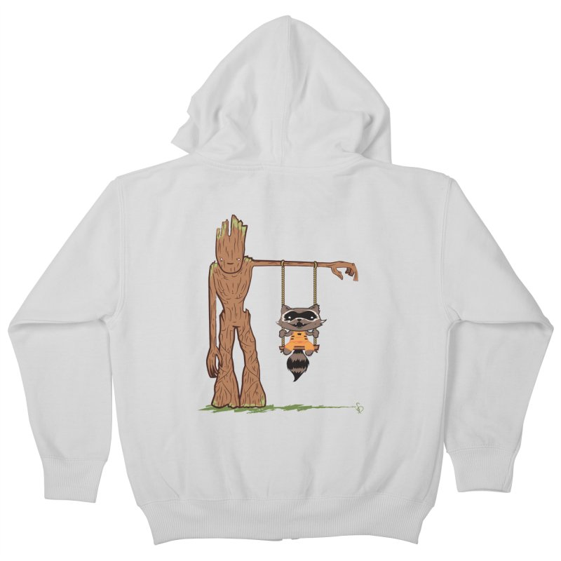 Come Swing With Me Kids Zip-Up Hoody by pepemaracas's Artist Shop