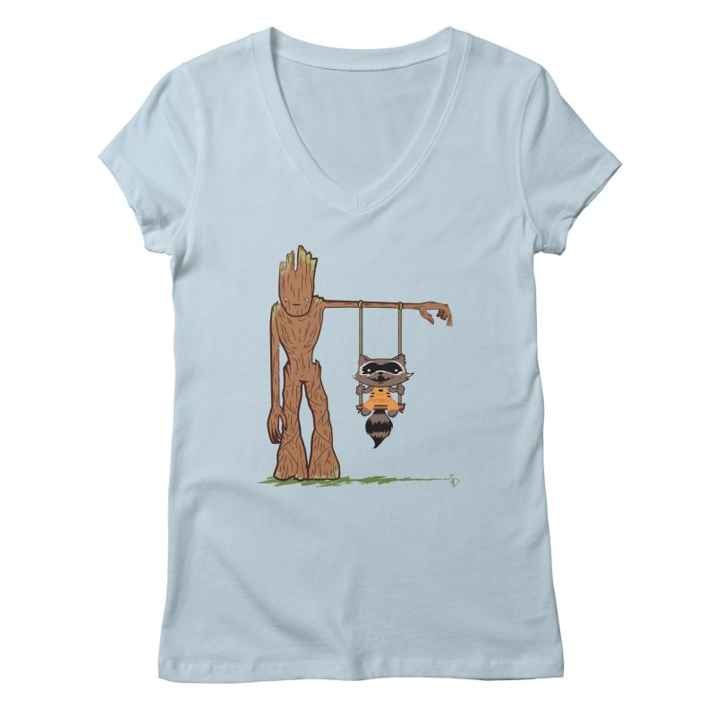 Come Swing With Me Women's V-Neck by pepemaracas's Artist Shop
