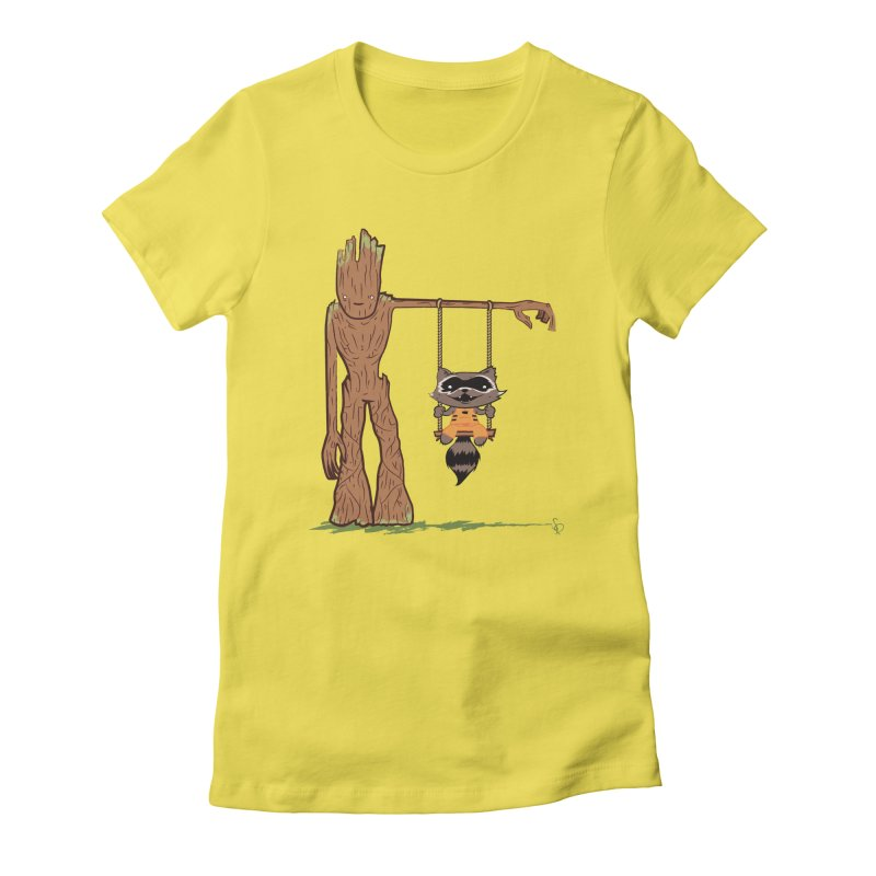 Come Swing With Me Women's Fitted T-Shirt by pepemaracas's Artist Shop