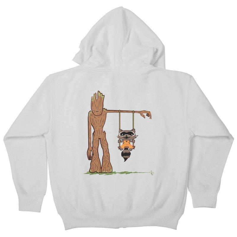 Come Swing With Me Kids Zip-Up Hoody by pepemaracas's Artist Shop