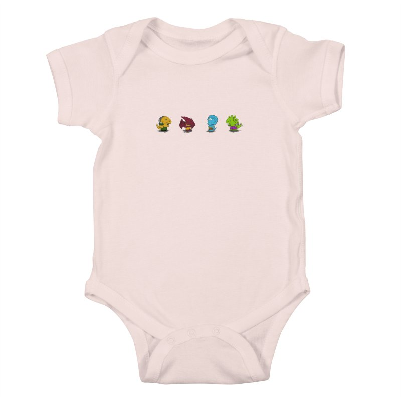 Extreme Dinos Kids Baby Bodysuit by pepemaracas's Artist Shop