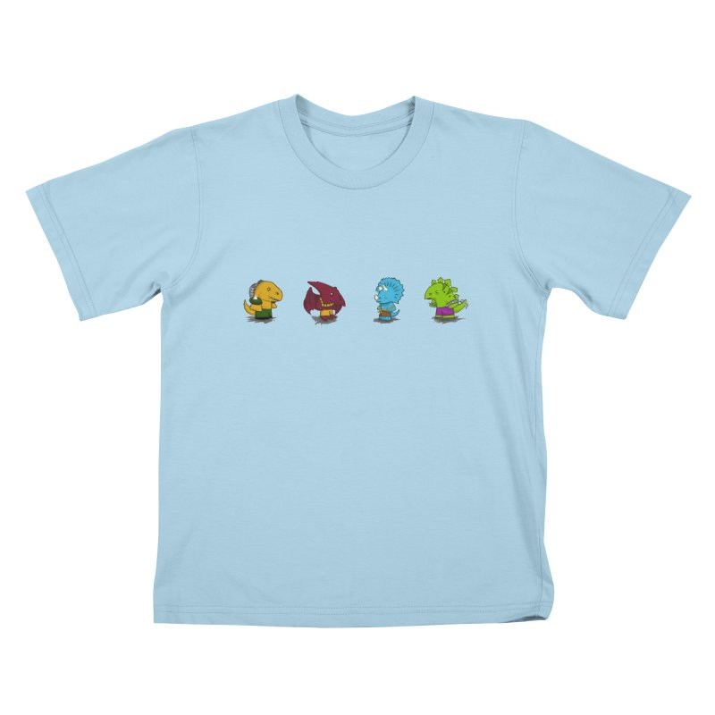 Extreme Dinos Kids T-shirt by pepemaracas's Artist Shop