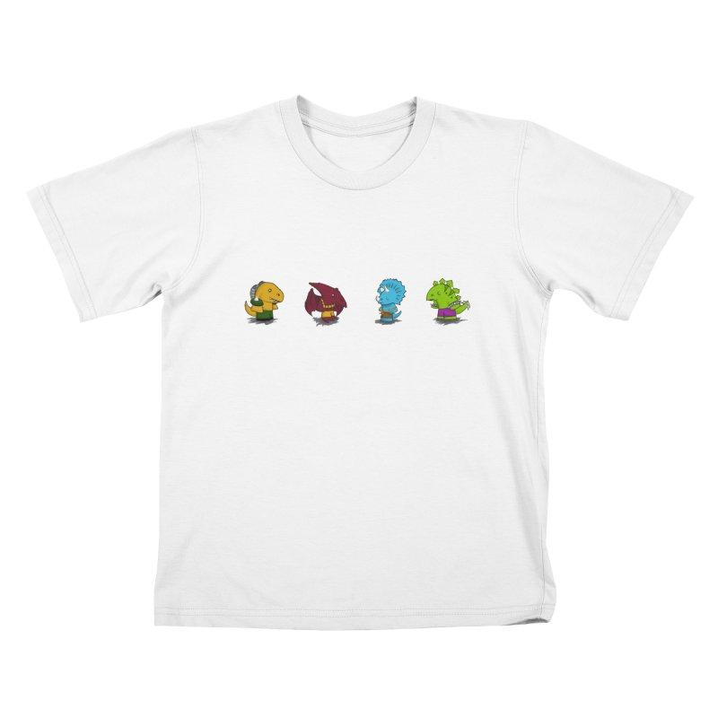 Extreme Dinos Kids T-shirt by pepemaracas's Artist Shop