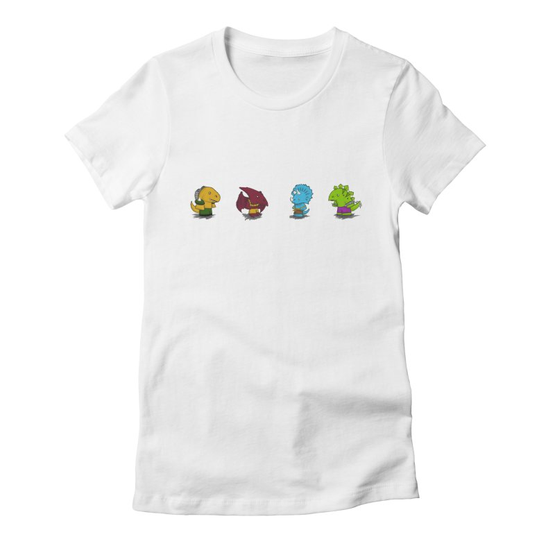 Extreme Dinos Women's Fitted T-Shirt by pepemaracas's Artist Shop