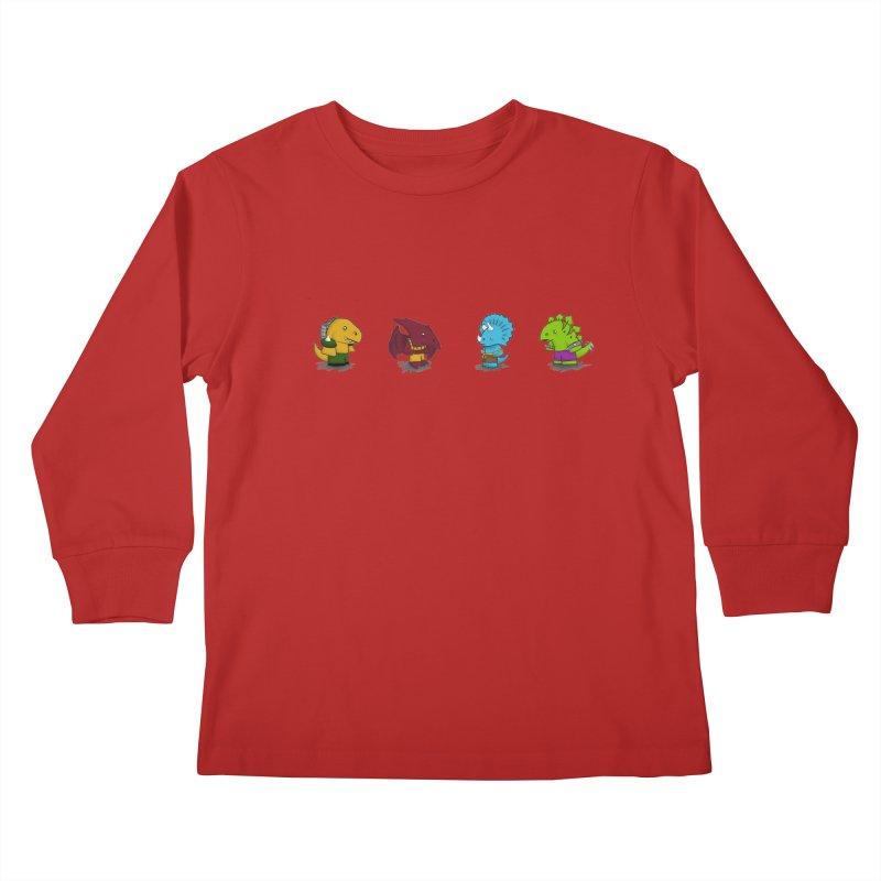Extreme Dinos Kids Longsleeve T-Shirt by pepemaracas's Artist Shop