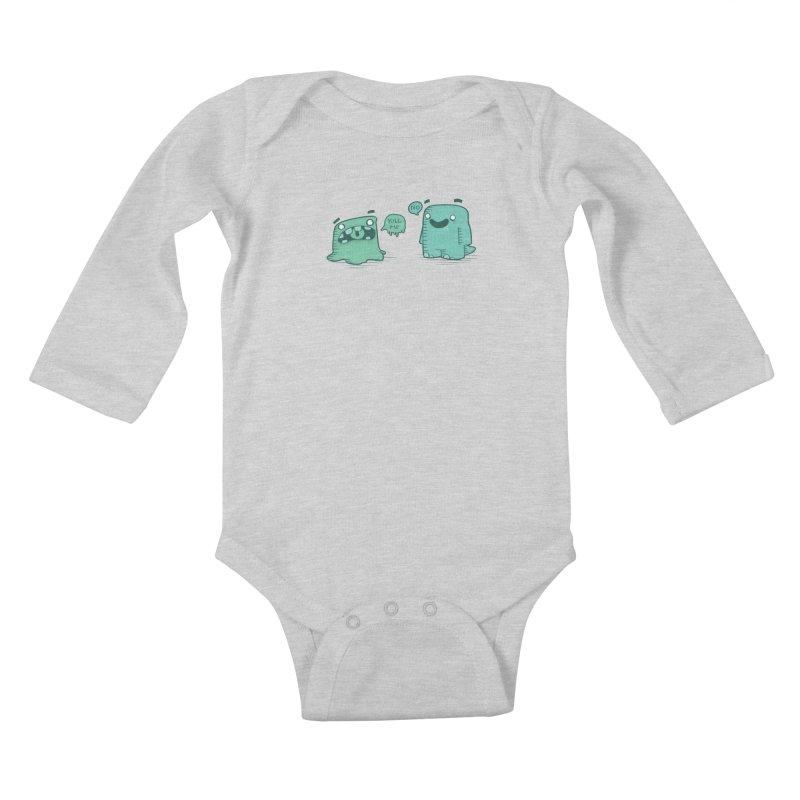 Monday Kids Baby Longsleeve Bodysuit by pepemaracas's Artist Shop